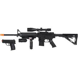 Fantasía ligera online-AIRSOFT SPRING M4 SPECIAL OPS TACTICAL SNIPER RIFLE GUN CON PISTOLA LASER LIGHT BB