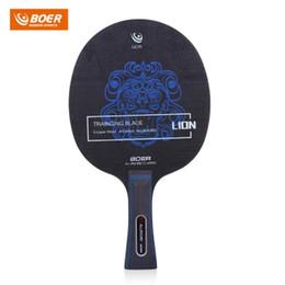 BOER profesyonel Masa Tenisi Raketler 7 katmanları ahşap süpürgelik Açık Aslan Desen Masa Tenisi Ping Pong Raket Eğitim Bıçak B nereden