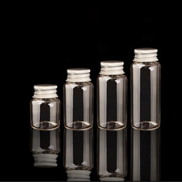 Wholesale Jewelry Small Glass Vials - 25ml Small Vase Tiny Glass Bottle Jewelry Vial Potion Tie Plug Glass Bottle Aluminum Cap jar Gift Jewelry Storage S026B