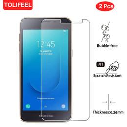 2 Pcs 9 H Vidro Temperado Para Samsung Galaxy J2 Núcleo 5.0 Polegada Protetor de Tela Do Telefone Película Protetora Película Protetora de Vidro cheap core phone inch de Fornecedores de polegada do telefone do núcleo