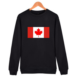 Wholesale Red Flag Canada - Canada Flag Hoodies Cotton Capless Sweatshirts State Flage Men Women Clothing