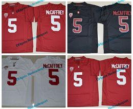 2019 cardenales jerseys negro 2017 Stanford Cardinals Christian McCaffrey College camisetas de fútbol barato # 5 Christian McCaffrey University camisetas de fútbol rojo negro cardenales jerseys negro baratos