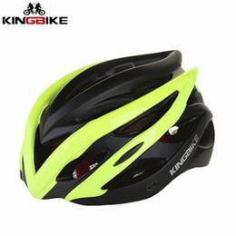 2019 lente conduzida KINGBIKE Homens Mulheres Capacete de Bicicleta MTB Road Bike Capacete e EPS + PC 24 Aberturas Integralmente-moldado Ciclismo Bicicleta