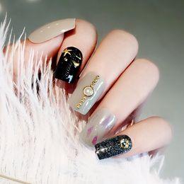 Американская броня онлайн-Европейские и американские моды личности радужности накладные ногти патч фототерапия броня (не содержит клея)