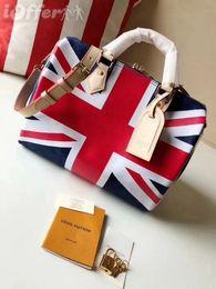 Bandiera satinata online-M43888 M40391 30 WOMEN UK NATIONAL FLAG HAND BAG PURSE Messenger Shoulder Bags Crossbody HANDBAGS Totes Boston Bags