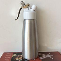 Wholesale Ce Cream Maker - Dining & Bar Water Bottles Drinkware Dining & Bar NEW 500 ml Whip Coffee ,Dessert ,Fresh Cream, Butter, Dispenser Whipper Foam Maker Metal