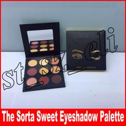Sombras de ojos negras online-Nueva paleta de maquillaje Marca sombra La paleta Sorta Sweet 9 colores Sombra de ojos Paleta sombra de ojos negro