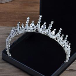 2019 hochzeitskopf perlen Koreanischen Stil Strass Kristall Perlen eine Krone Braut Kopf Ornamente eine Krone Tiara Hochzeit Braut Haarschmuck Schleier Designer rabatt hochzeitskopf perlen