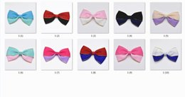 Wholesale two tone flower wholesale - 10pcs two-tone Hair Bows Clips flower Girls' Boutique HairBows Ribbon Lined alligator clip princess accessories for girl FJ053