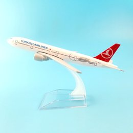 Wholesale airlines metal - FREE SHIPPING 16CM TURKISH AIRLINES 777 METAL ALLOY MODEL PLANE AIRCRAFT MODEL TOY AIRPLANE BIRTHDAY GIFT