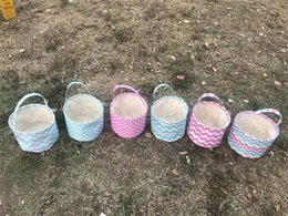 Wholesale Children Toy Storage - Kids DIY Easter Bunny Baskets Rabbit Fabric Bucket Kids Storage Bags For Easter Gift Packing Easter Headbags For Child Festival