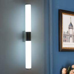 Appliques murales 24w en Ligne-Applique murale moderne à miroir LED pour appareils d'éclairage de salle de bain 8W 12W 16W 24W Appliques murales avant à miroir