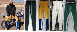 Wholesale Cotton Track Pants Men - Best 2017 Fear Of God Fifth Collection FOG Justin Bieber side zipper casual sweatpants men hiphop jogger track pants Sportwear