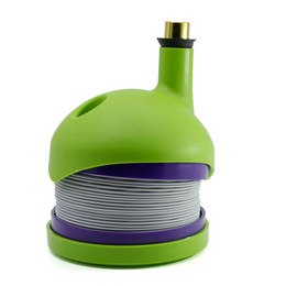 Wholesale Plastic Flexible Pipe - Bukket Flexible Flex Plastic Smoking Pipes Tobacco Pipe 91.5*110.5mm Smoking Accessories 4 colors