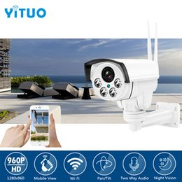 Wholesale Ip Camera Outdoor Wireless Pan - 960P HD Wifi PTZ IP Camera Bullet Outdoor Pan Tilt Zoom 2-14mm 4X Optical Zoom 1.3MP Wireless IR SD Card CCTV Camera