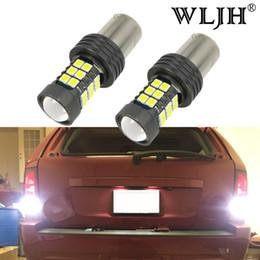 Wholesale 12v led van lights - WLJH Canbus 1156 LED Bulb BA15S P21W 7506 7527 Auto Truck Van Car Light Brake Turn Signal Position Lamp Reverse Light 12V 24V