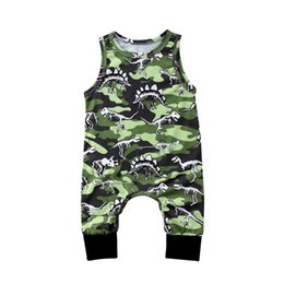 Wholesale Outfits For Baby Boys - 2018 New Baby Boy Clothes Infant Toddler Baby Rompers Newborn Boys Girls Dinosaur Printing Jumpsuit Sunsuit Outfits Kids Clothing for Boys
