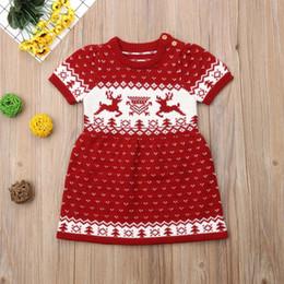 23e9c293f272 Noël nouveau-né enfants bébé filles laine à tricoter pull partie robe tutu  vêtements abordable robes de laine de bébés