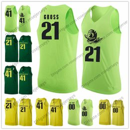 Wholesale apple basketball - Oregon Ducks #22 MiKyle McIntosh 24 Abu Kigab 41 Roman Sorkin 54 Will Johnson Apple Dark Green Yellow NCAA College Basketball Jerseys S-3XL