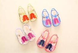 Bebés de látex online-New Kids Mini Melissa Jelly Sandalias Para Bebés Helado Niños Verano Cute Cartoon Beach Shoes Infantil Sandalia