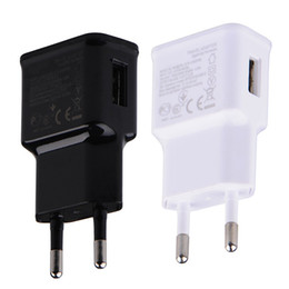 Wholesale Android Home Plug - USB Wall Charger 5V 2A AC Travel Home Charger Adapter US EU Plug for universal smartphone android phone White Black Color