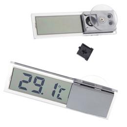 2019 medidor digital de la temperatura del termómetro Mini Pantalla LCD Portátil Digital Medidor de Temperatura Pantalla Medidor de Coche Medidor de Temperatura Probador de Succión Auto Hogar Espejo Termómetro rebajas medidor digital de la temperatura del termómetro
