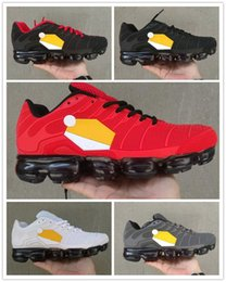 065643bd97ea1 ... Newly TN Plus Men Cushion Running Shoes Big Logo no-sew for male White  Black ...
