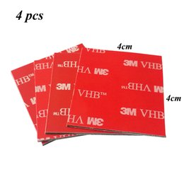 2019 автомобильный держатель dvr 4pcs 4cmx4cm 3M VHB 5952 Heavy Duty Double Sided Adhesive Acrylic Foam Tape Good For Car Camcorder DVR Holder 2016 дешево автомобильный держатель dvr