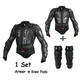 2019 ginocchiere per armature Spedizione gratuita 1 Set Moto Enduro Jacket Protective Gear Uomini Moto Armor Jacket Knee Pads ginocchiere per armature economici