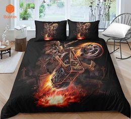 3d quilts covers king size Coupons - 3Pcs 3D Skull otorcycle Bedding Set With Pillowcases Duvet Cover Quilt Cover For Kids Queen King Sizes Bedspreads Sj234