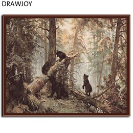 Wholesale Oil Acrylic Canvas - DRAWJOY Frameless Picture Painting By Numbers Wall Art Acrylic DIY Oil Canvas Painting Home Decoration For Living Room 40*50CM