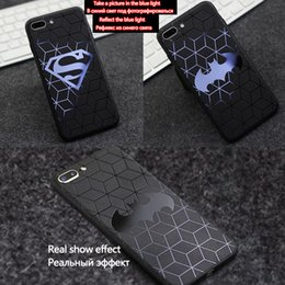 Wholesale Superman Phone Covers - Superman Batman phone Case For iPhone X 7Plus 8Plus Cases Back Cover For iPhone 7 8 3D relief TPU soft shell slim The Avengers black case