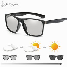 Gafas de ciclismo nocturno online-Gafas de sol fotocromáticas de ciclismo Polarized Driving Men Mujeres Gafas de madera de camaleón Galele Frame Day and Night Male Goggles