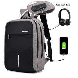 Wholesale Boys Sports Backpack - Anti-theft Mens Womens Laptop Notebook Backpack With USB Charging Port