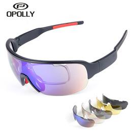bfad4bfe1a3 Occhiali da sole da ciclismo Polarizzati 5 lenti Occhiali da sole UV400  Occhiali da vista Myopia Mountain Bike Occhiali da sole occhiali 2018 per  biciclette