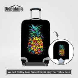 Wholesale Trunk Suitcase Luggage - Waterproof Dustproof Elastic Case On Suitcase Cartoon Pineapple Fruit Print Women Thick Travel Luggage Protector Cover For 18-30 Inch Trunk