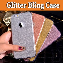 Wholesale cute protective iphone cases - Ultra Thin Slim Glitter Bling Cute Candy Crystal Soft Gel TPU Transparent Shockproof Protective Back Cover Case For iPhone X 8 7 Plus 6S 5S