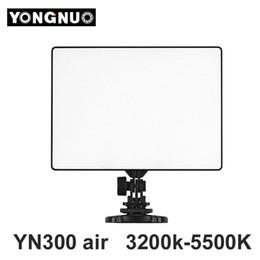 Atacado yn 300 yn300 yn-300 ar led camera luz de vídeo 3200 k-5500 k para canon nikon pentax Olympas samsung filmadora dslr de