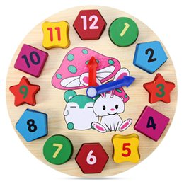 Discount educational wooden toys for kids - Educational Toy with Cartoon Pattern Digital Blocks Clock for Baby Digital Blocks Clock for Baby Kids Learning Math Training Toys Wood