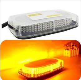 Estroboscópio amarelo 12v on-line-12V 240 LEDs Barra de Luz Telhado Top Emergência Beacon Aviso Flash Strobe Âmbar Amarelo