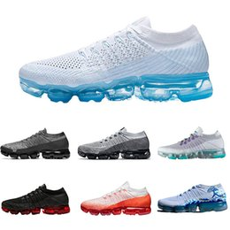 Wholesale Outdoor Lighted Cross - 2018 New Vapormax Mens Running Shoes For Men Sneakers Women Fashion Athletic Sport Shoe Hot Cross Hiking Jogging Walking Outdoor Shoes