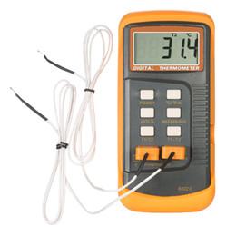 Argentina Termómetro digital 2 canales Termostato tipo K Termocupla Sensor Termorregulador del sensor Retención de datos Apagado automático Func supplier thermocouple thermometers Suministro