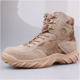 Mens bottes tactiques en cuir imperméable combat armée devoir travail bottes chaussures de randonnée en plein air voyage camping botas bottes de camouflage ? partir de fabricateur