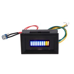 car fuel meter Coupons - 12V Unversal Motorcycle Car Oil scale meter LED Oil Fuel level Gauge Indicator