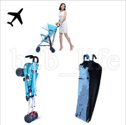 Wholesale other storage - Easy Carrying Baby Stroller Cover Bag Baby Carriage Storage Bag Outdoor Travel Covers Cloth Stroller Accessories LJJK1013