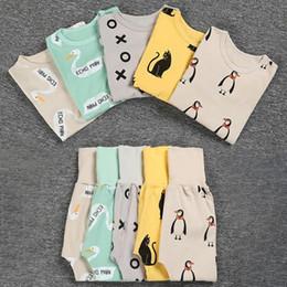 Wholesale Toddler Pijamas - Pyjamas Kids Boys Pajamas Sets Girls Pijamas Clothes Nightwear Homewear Toddler Sleepwear Home Clothes Clothing Suits R2 -16h