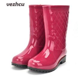 Scarpe invernali da pioggia per le donne Stivali da pioggia per le donne alla moda Piattaforma impermeabile traspirante Stivali da pioggia Plus Size 36-41 da