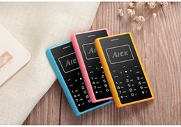 Wholesale Low Price Radio - Factory price Cheap Original AIEK AEKU X7 card Mini unlocked GSM MobilePhone Low Radiation FM Radio Flashlight credit card cell mobile phone