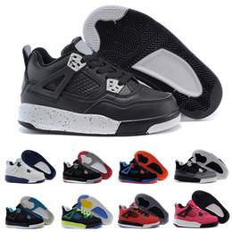 online retailer 7be43 d2ee0 Nike air Jordan 4 13 retro New Kids Basketball Schuhe 4 Jungen Baby  Turnschuhe rot schwarz weiß blau Kinder Sport IV 4 s Trainer 2017  Großhandel Größe 28-35