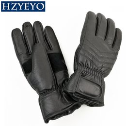 Wholesale Sport H - HZYEYO Leather Winter outdoor sport Skiing Gloves windstopper waterproof warm Man ski gloves , H-1001 ,free shipping